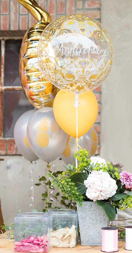 Bouquet de ballons gonflés à l'hélium